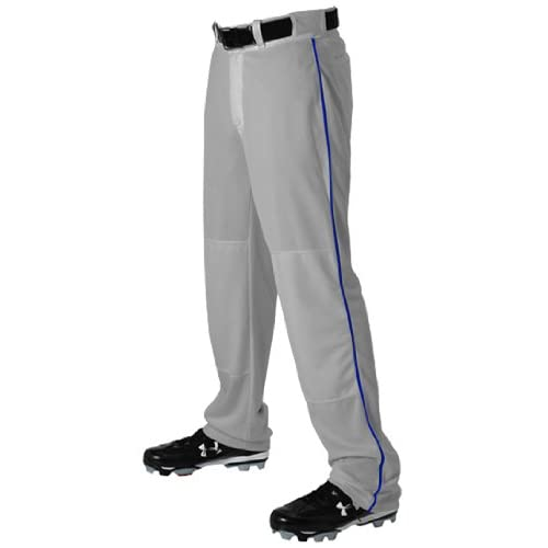 Alleson 605WLBY Youth Baseball Pants With Piping GR/RO - GREY/ROYAL YM promo code 2015