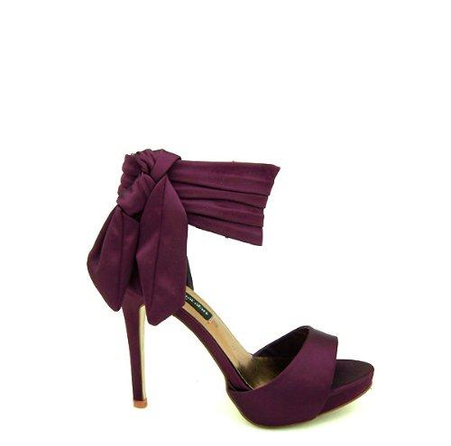 Fresa y chocholate zapato de fiesta con tacón y plataforma para señora 1005 mora-talla 39