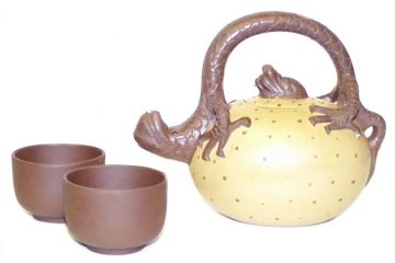 Dragon Egg ~ Yixing Teapot Set 12 oz.