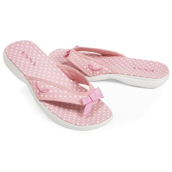 Image of ESNY Women's Comfort for a Cure Dot Flip Flops Slippers - Totes Isotoner (B0083WX52W)