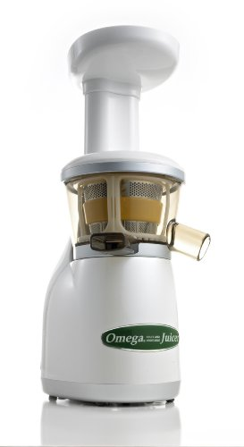 Omega VRT330HD Heavy Duty Vert Juicer, Pearl White