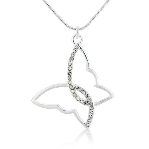 Silver Butterfly Necklace - Butterfly Pendant