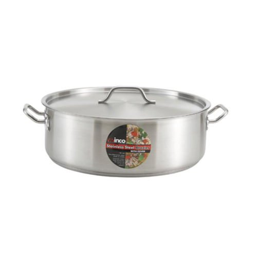 Winco SSLB-10, 10-Quart Premium Stainless Steel Induction Brazier