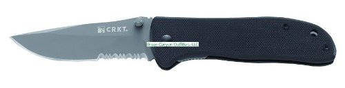 Crkt Drifter G10 Folding Combo Edge Serrated Knife, Stainless Steel