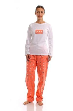 8a33baba0b Noble Mount Womens Premium 100% Cotton Flannel Knit Sleepwear Set - Cute  Prints