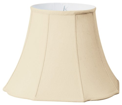 Royal Designs Flare Bottom w Outside Corner Scallop Basic Lamp Shade, Beige, 8 x 14 x 11 (BSO-701-14BG)