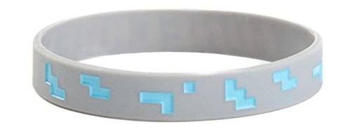 Minecraft Diamond PVC Rubber Wristband Bracelet Costume Accessory