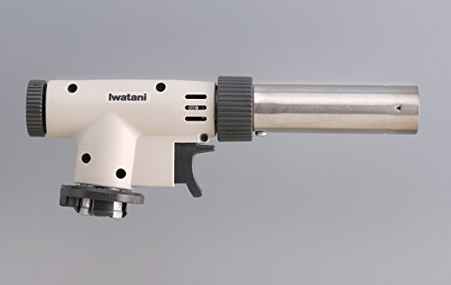 Iwatani CB-TC-PRO2 - Professional Butane Cooking Torch, Piezo electric ignition (With Stabilizing Plate)