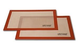2 X Artisan (2 pk.) Non-Stick Silicone Baking Mat Set, 16 5/8 x 11