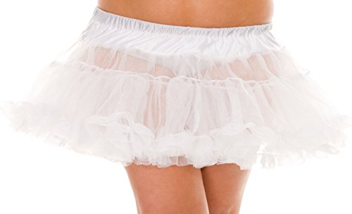 Plus Size White Petticoat For Costumes - QUEEN SIZE
