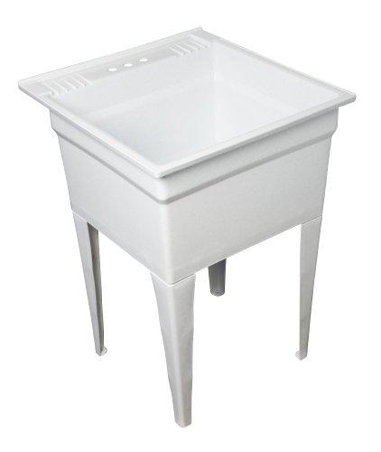 Masco Bath 102005 Heavy-Duty Utility Sink, 20-Gallon, White Granite Finish