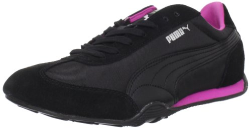 Puma Womens 76 Runner Nylon Fashion Sneaker,Black/Raspberry Rose,11 B US