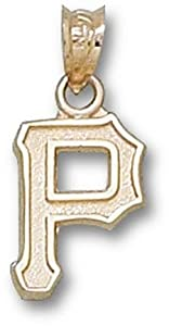 Pittsburgh Pirates 1 2 P Pendant - 10KT Gold Jewelry by Logo Art
