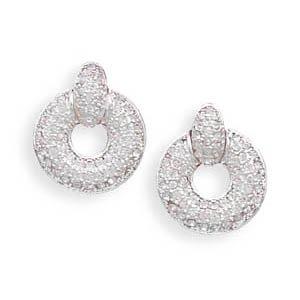 Door Knocker Style Crystal Fashion Earrings