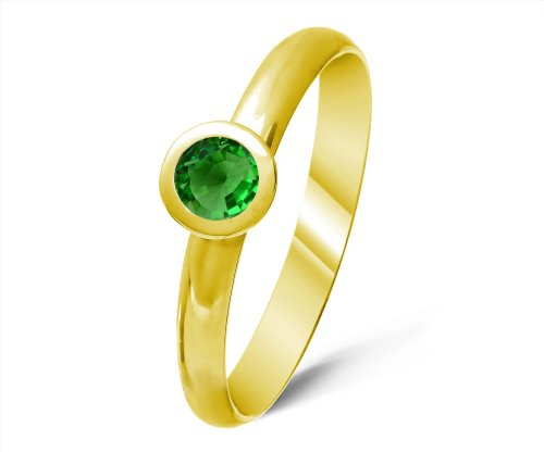 Classical 9 ct Gold Ladies Solitaire Engagement Ring with Tsavorite 0.50 Carat