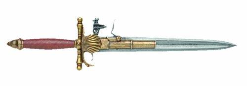 Denix 18th Century French Knife Pistol, Brass