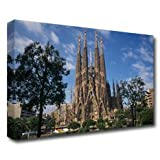 SPAIN Catalonia Barcelona Sagrada Familia - 30 x 20in Canvas Print - Framed and ready to hang