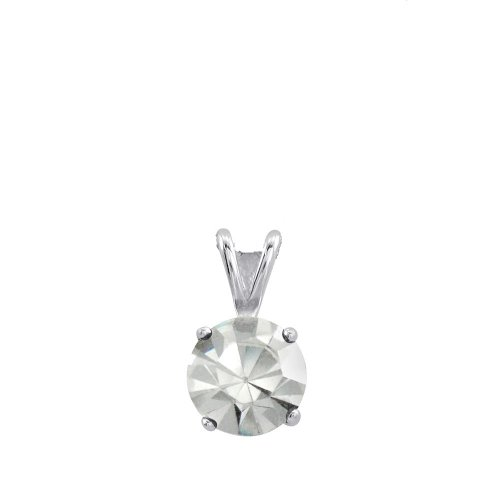 Sterling Silver Basket Set 8mm Crystal Birthstone Pendant April - Crystal