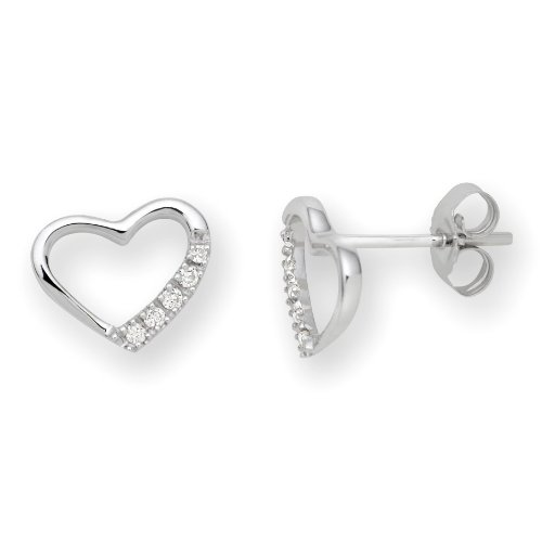 0.07 Carat Diamond Stud Earrings in 9ct White Gold