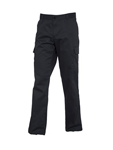 Ladies Womens Cargo Combat Work Wear Trousers Pants Black or Navy Size 8 - 20 (10, Black)