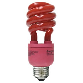 13w red cfl e26 compact fluorescent colored light bulb. Black Bedroom Furniture Sets. Home Design Ideas
