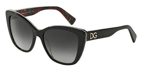 dolce-gabbana-d-g4216-sonnenbrille-2940t3-schwarz-auf-druck-rosen-55-17-140