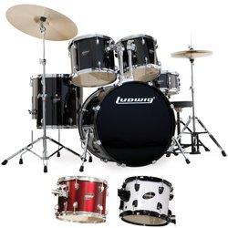 Ludwig Accent Cs Combo : ludwig accent cs combo 5 piece drum set with hardware musical instruments ~ Hamham.info Haus und Dekorationen