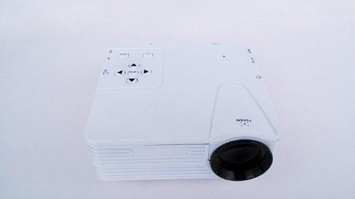 Happyhome® 1080P Led Protable Projector Hd Pc Av Tv Vga Usb Hdmi (White)