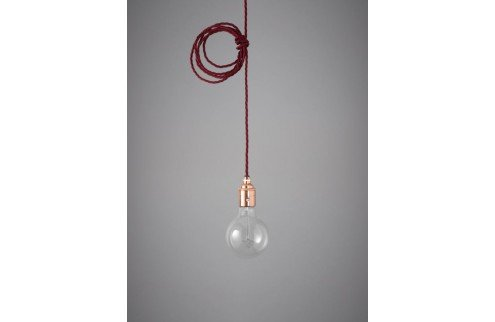 Nook London Retro Lampenaufhängung Nostalgia Lights Pendant Set copper burgundy red