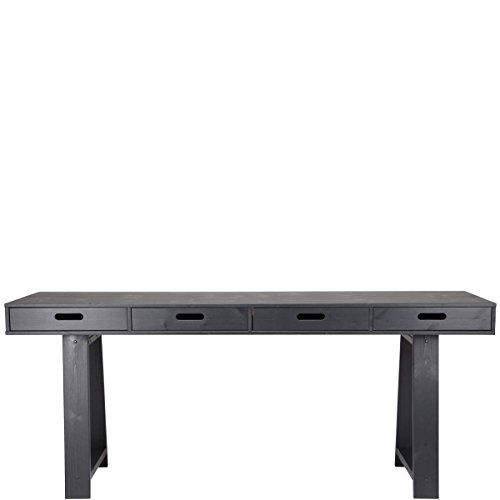 BUTLERS TURNTABLE Konsolen- oder Schreibtisch mit 4 Wende-Schubladen schwarz