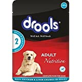 Drools Adult Chicken And Liver Wet Food Pouch, 100 G (Pack Of 4)