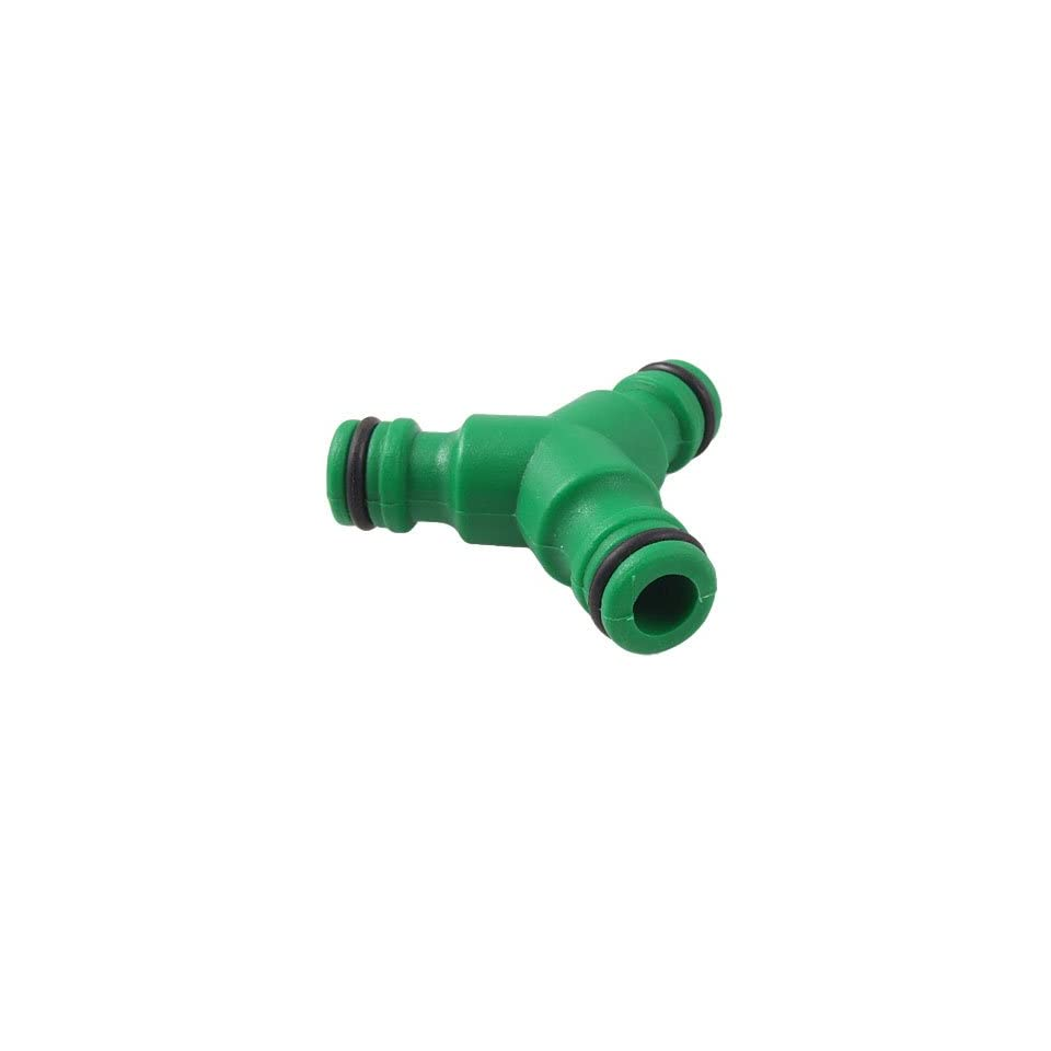 Amico Home Garden Plastic 3 Way Water Hose Connector Green