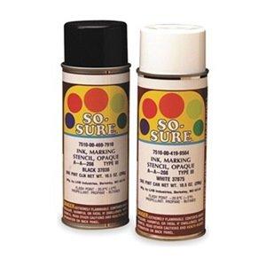 Spray Stencil Ink, Black, 10.5 Oz.
