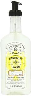 J.R. Watkins Liquid Hand Soap Lemon 11-Ounce Bottles Pack of 6