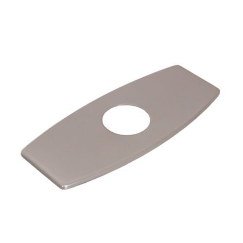Wovier Brushed Nickel 3-to-1 Rectangle Shaped Polished Sink Hole Cover Deck Faucet Plate Escutcheon (Sink Faucet One Hole compare prices)