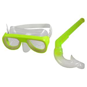 Buy Children Adjustable Silicone Strap Clear Lens Swim Mask Swimming Snorkel Goggles by Como