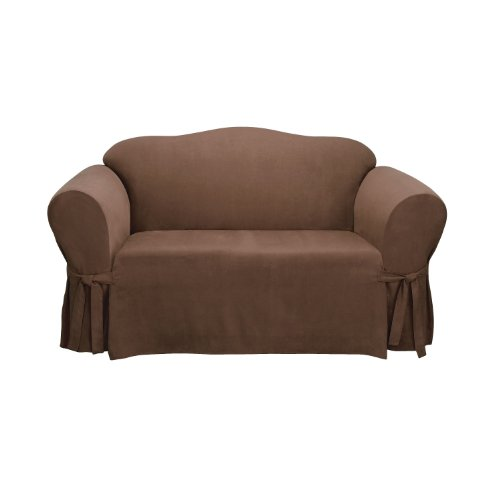 this deals sure fit soft suede 1 sofa slipcover