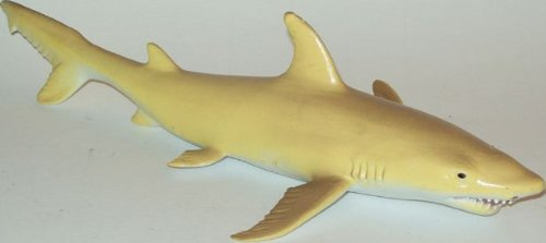 Yellow Tiger Shark-Lifelike Rubber Replica 10 Inches