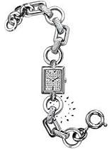 Armani Crystal Silver Bracelet 50M Ladies Watch - AR5735