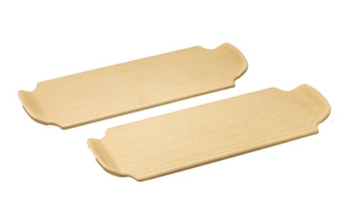 Brick Oven Direct to Flame Pizza Stone, 13-Inch, Brown, Set of 2 (Personal Pizza Pan Set compare prices)