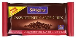 Sunspire Carob Chips, Unsweetened 10 Oz. (Pack Of 12)
