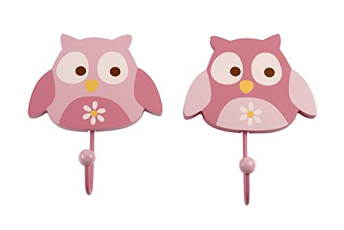 NoJo Wall Hooks, Owl, 2 Count