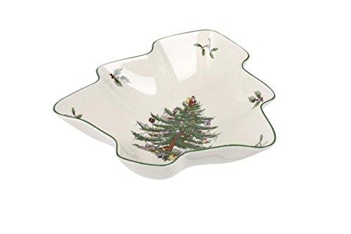 Spode Christmas Tree Dish, Multicolor Spode China Christmas Tree
