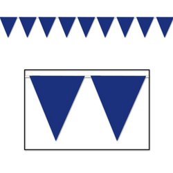 Indoor/Outdoor Pennant Banner (blue) Party Accessory  (1 count) (1/Pkg)