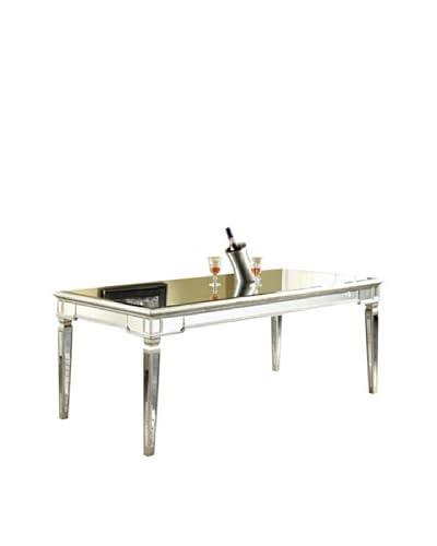 Florentine Dining Table, Silver Leaf/Clear Mirror