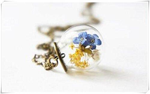Un romantico dolce in vetro da giardino sfera con vera non ti scordar di me