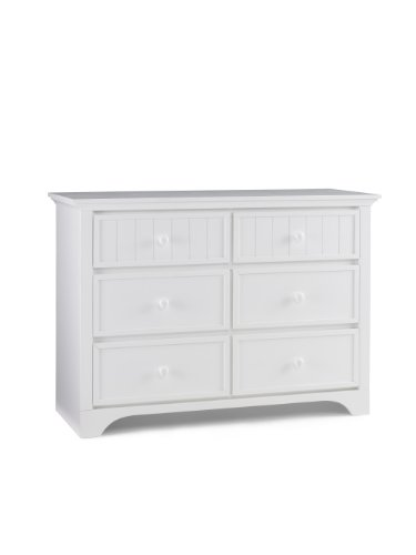 Big Save! Fisher-Price Lakeland 6 Drawer Double Dresser, Snow White