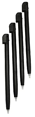 Gator Crunch Black Color Stylus Pen Set for Nintendo DS Lite (Lifetime Warranty, 4 pack) - Bulk Packaging