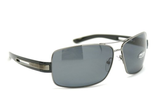 prada Prada PR54IS Sunglasses-5AV/5Z1 Gunmetal (Polarized Gray Lens)-64mm