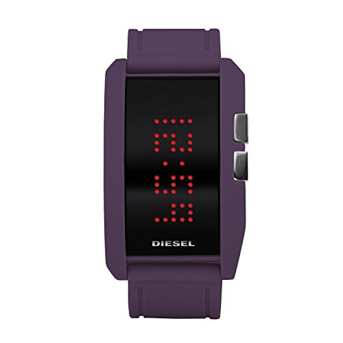Diesel Watches Diesel Men'S Purple Color Domination Led Digital Black Dial Watch